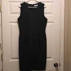 Calvin Klein Grey sleeveless dress.